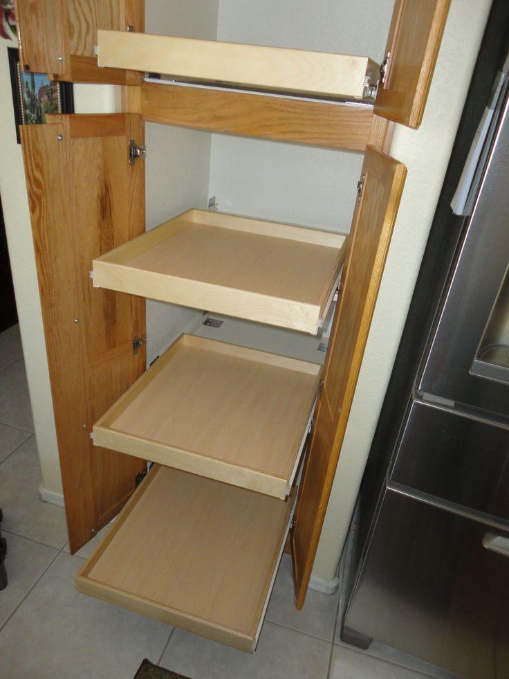 pantry sliding shelves made to fit. Black Bedroom Furniture Sets. Home Design Ideas