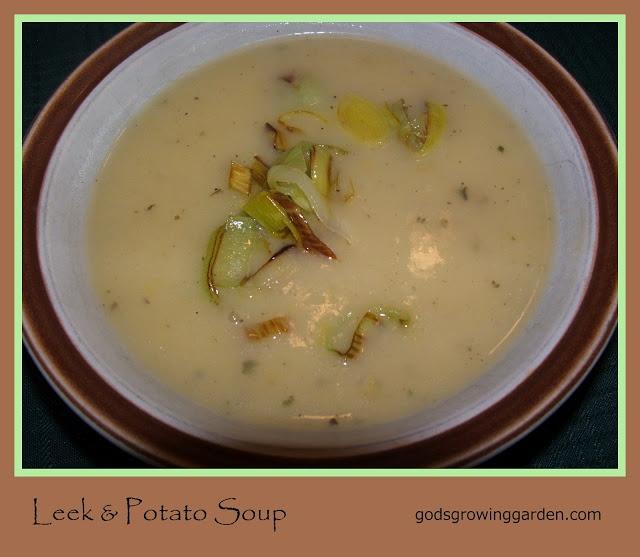 God's Growing Garden: Leek & Potato Soup With Homemade Chicken Stock