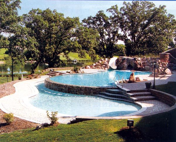 Tiered Backyard With Pool : The dream pool  For the Home  Pinterest
