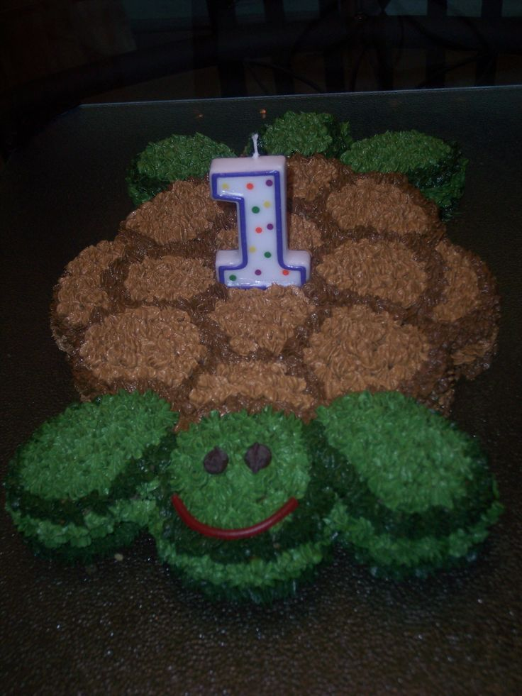 Turtle Cake. This one is a pull apart cupcake mold. Looking back, I ...