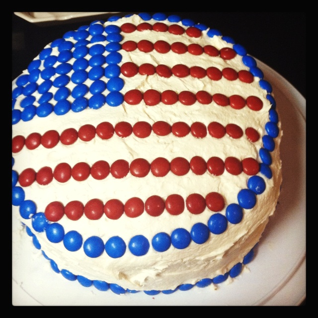 American flag cake with m and m 39 s cake cheesecake for American flag cake decoration