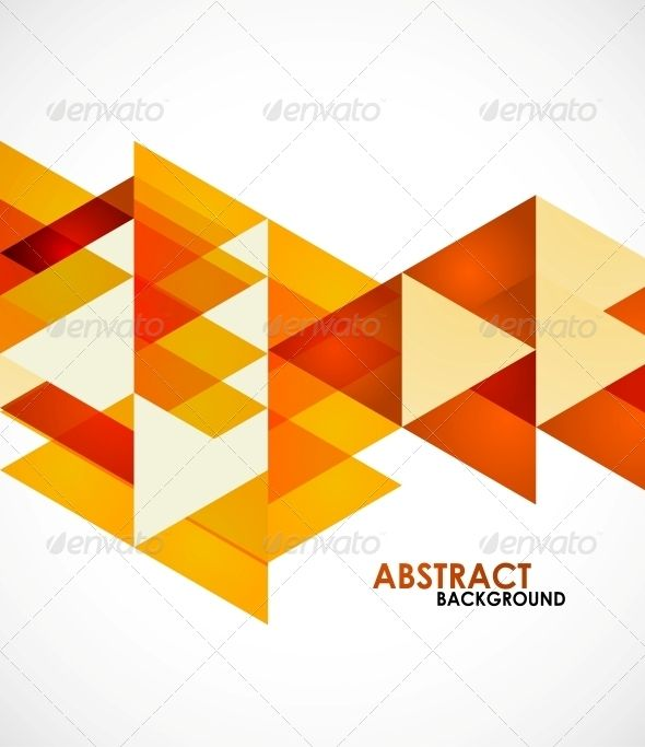 Orange business triangles graphicriver vector illustration fully editable vector all design - How to use creative lighting techniques as a design element ...