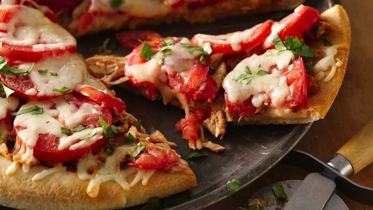 ... chicken pizza that's made using Pillsbury® pizza crust - perfect for