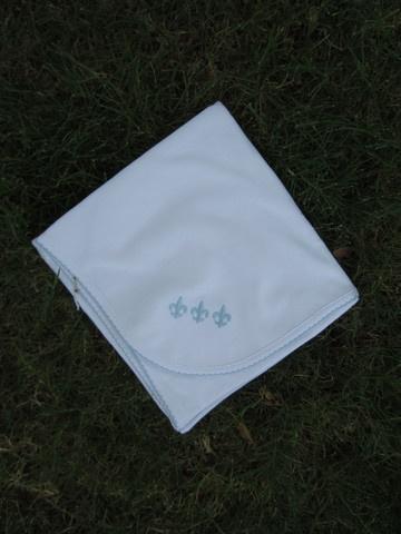 Pippen Lane Fleur de Lis Blanket