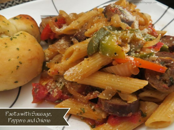 Pasta with Sausage, Peppers and Onions | Mmm Food! | Pinterest