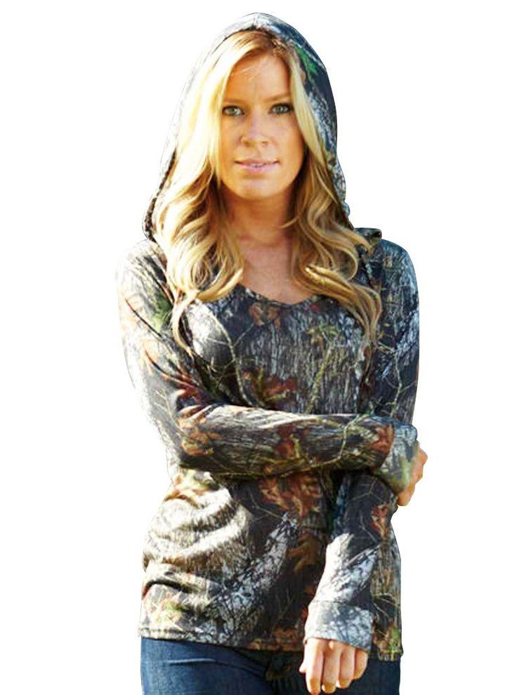 Sisters Designs - Mossy Oak Hoodie - Lightweight Camo For Women