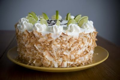 Key lime coconut cake