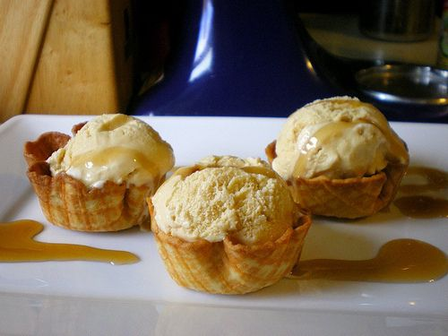 Maple Ice Cream in Waffle Cone Cups | Sweet Treats from the Freezer ...
