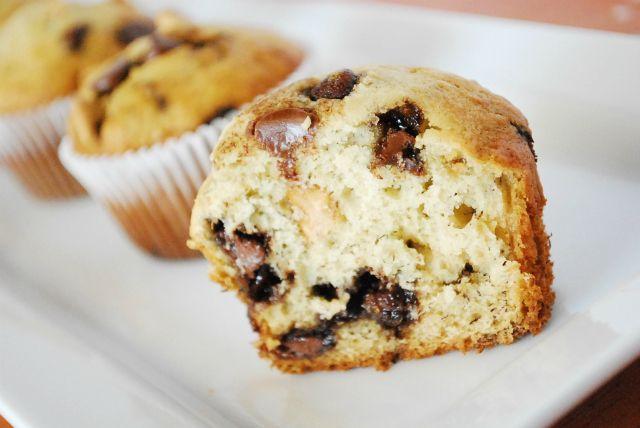 pb chip banana muffins - so yummy! Found mini chocolate chips to go ...