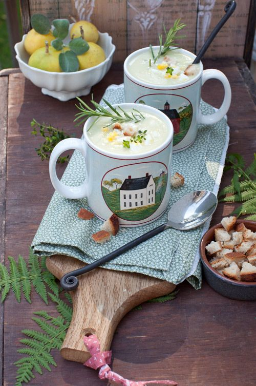 Cream of Cauliflower Soup with Homemade Croutons   ::::SOUP'S ON ...