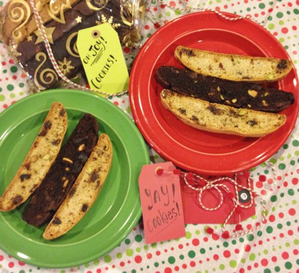 Pistachio and Cherry BIscotti -- chocolate or vanilla, whatever you ...