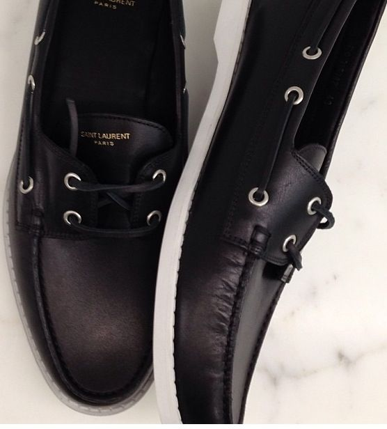 YSL Black Boat Shoes. | Goody Two-Shoes. | Pinterest