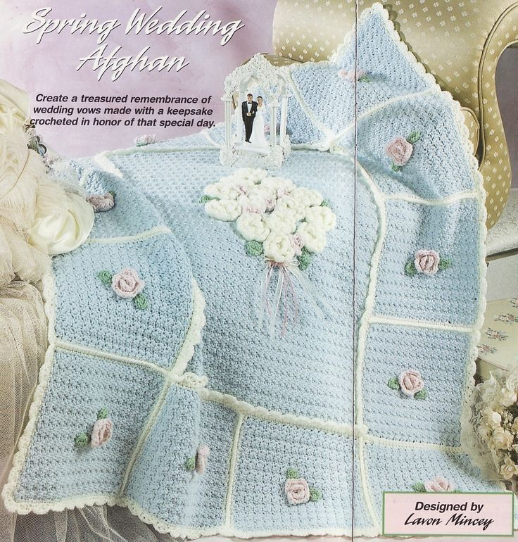 Crochet Afghan Pattern Wedding Gift : Spring Wedding Afghan Crochet Pattern Blanket Throw ...