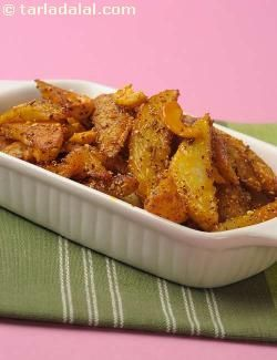 Fried potatoes sautéed with khus-khus and til, slightly sweet and ...
