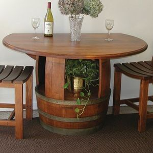 Wine Barrel Drop Leaf Dining Table Pieces For The Home Pinterest