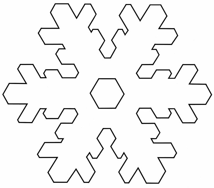 Snowflake Outline Template Snowflake templates snowflake template 1 ...
