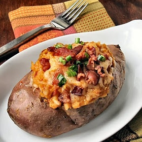 The Other Side of Fifty: Twice-Baked Chipotle Sweet Potatoes