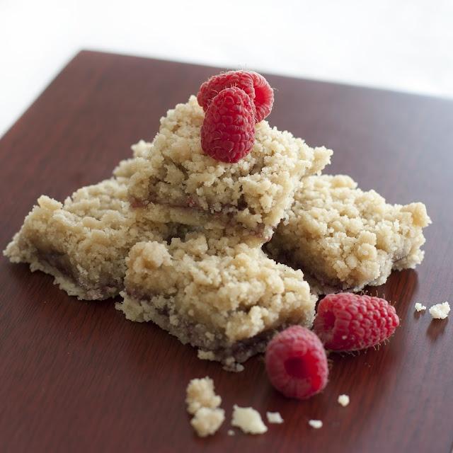 Raspberry Crumb Squares Recipe — Dishmaps