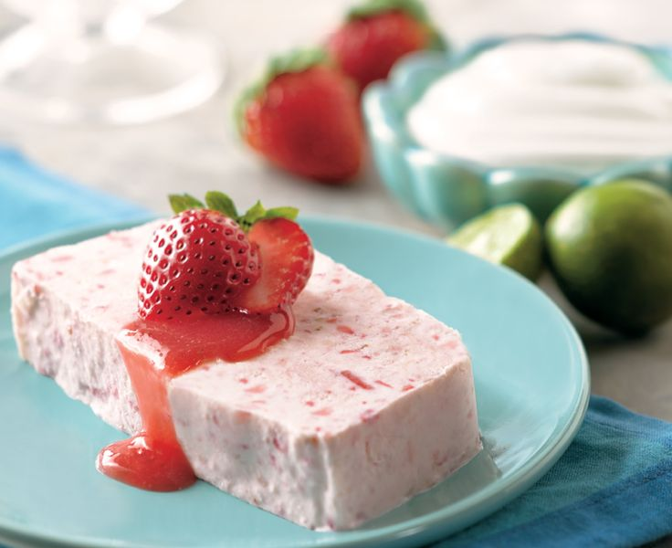 Strawberry and Lime Semifreddo - Daisy Brand