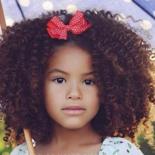cute mixed little girl curly hair miss bris hair