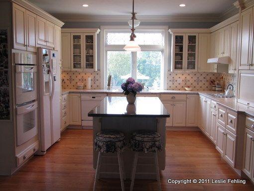 blue and white tiles on backsplash dream kitchen