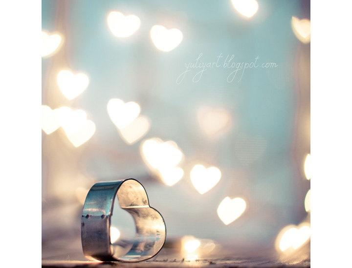 Love Spell - glamor romantic valentine home decor gift fine art photo heart woman cupid love Erotic amour heart passion blue mint grey aqua. $34.00, via Etsy by Yuliya