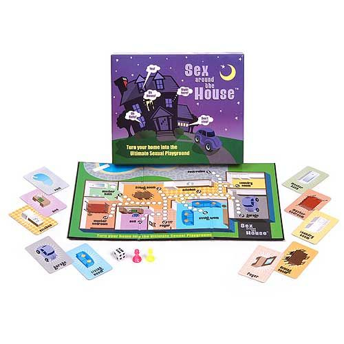 adult only around house board game valentines