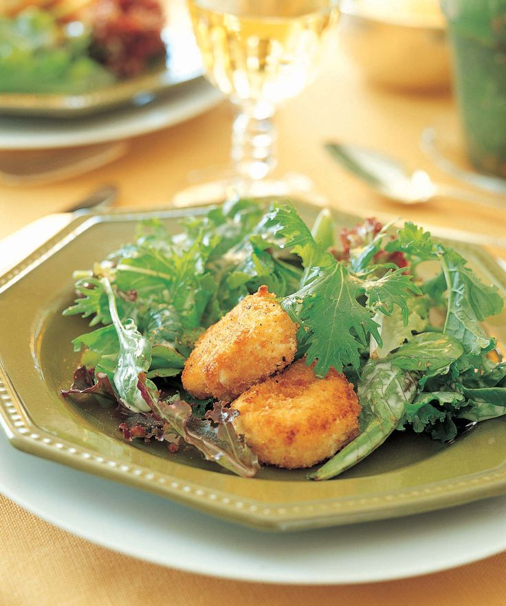 Salad with Warm Goat Cheese | Cheese | Pinterest