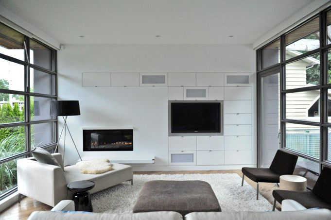 Linear Fireplace Design Ideas Pinterest
