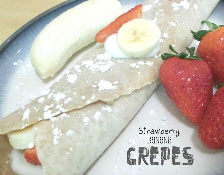 Healthy Meals Monday: Strawberry Banana Crepes | Six Sisters' Stuff
