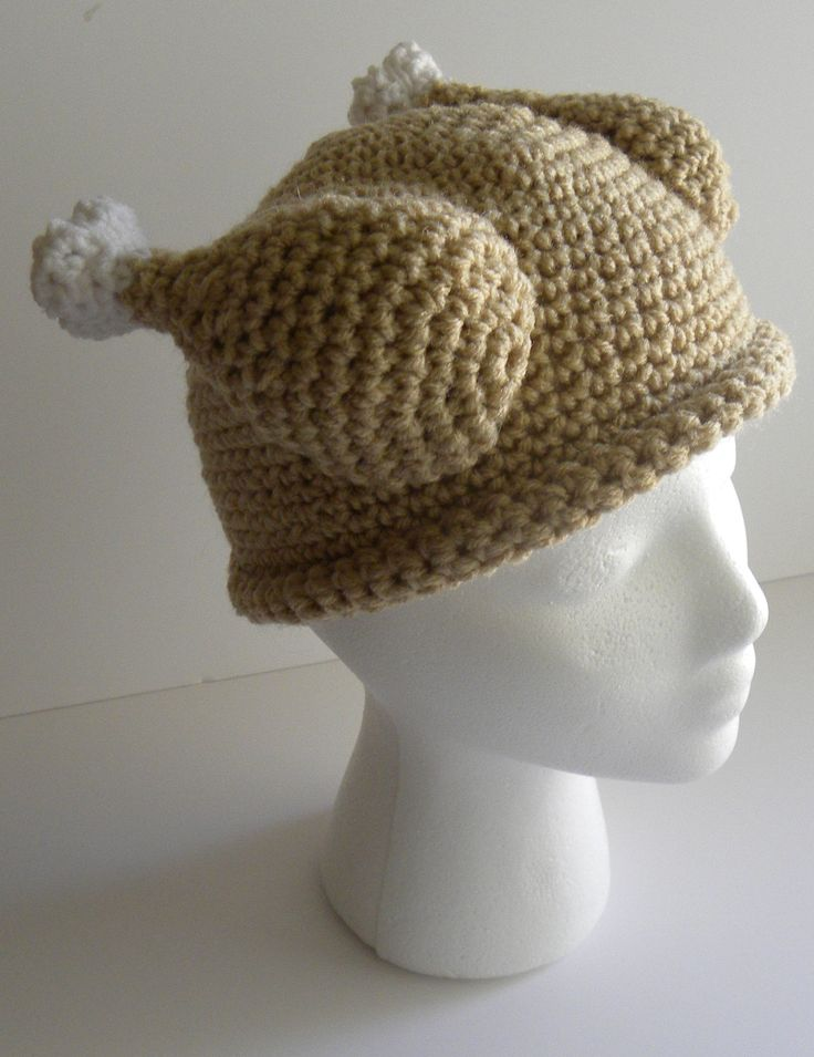 CROCHET PATTERN Crocheted Turkey Dinner Hat w/permission ...