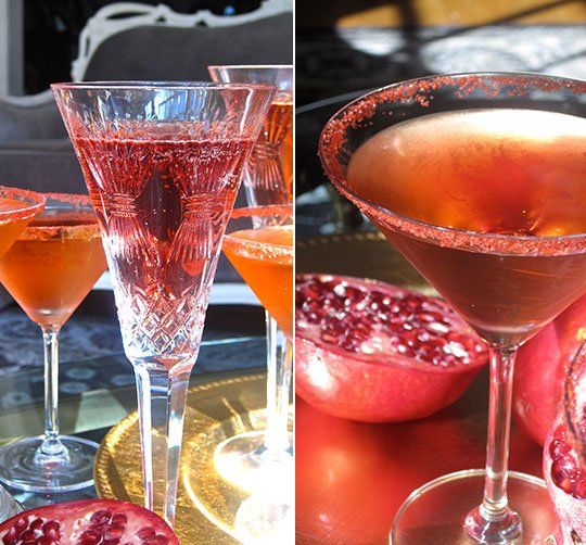Easy Thanksgiving Cocktail Recipe: Pomegranate and Prosecco Spritzer ...