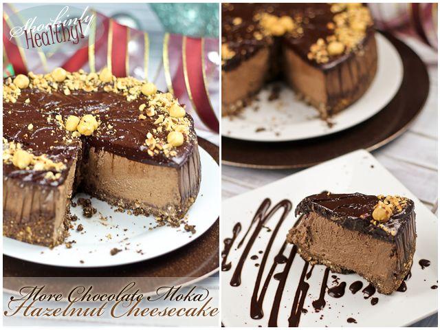 Shockingly Healthy More Chocolate Moka Hazelnut Cheesecake | by Sonia ...