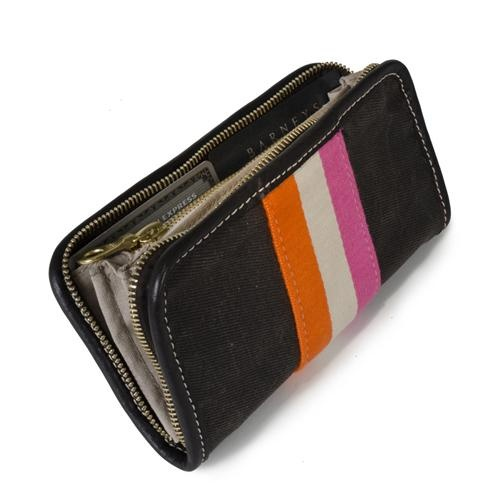 I've always been an anglophile but since my trip to London, I've covered my office walls with tears of understated British style, Kate Middleton and the other young royals and the bright jockey silks and racing colors worn by the beautiful Thoroughbred fillies at the Ascot Racecourse. Our chic continental wallet gets a punch of graphic glamour courtesy of the surcingle stripe down the center front and a surprise Newmarket-inspired lining (the blankets worn by the fillies back at the barn).