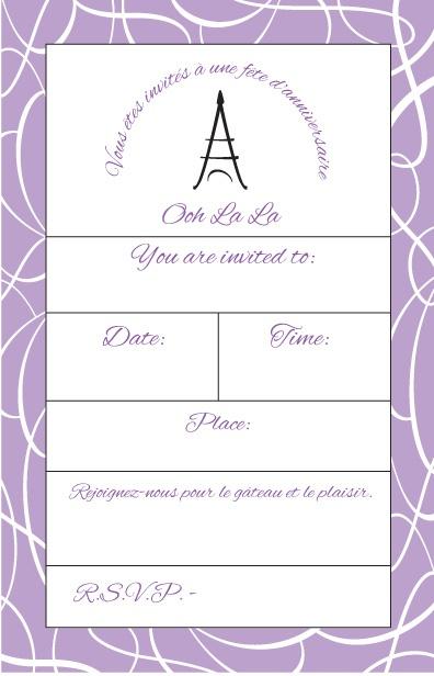Paris Themed Birthday Invitations with amazing invitations design