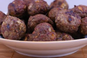 Recipe for Baked Swedish Meatballs [from Kalyn's Kitchen]