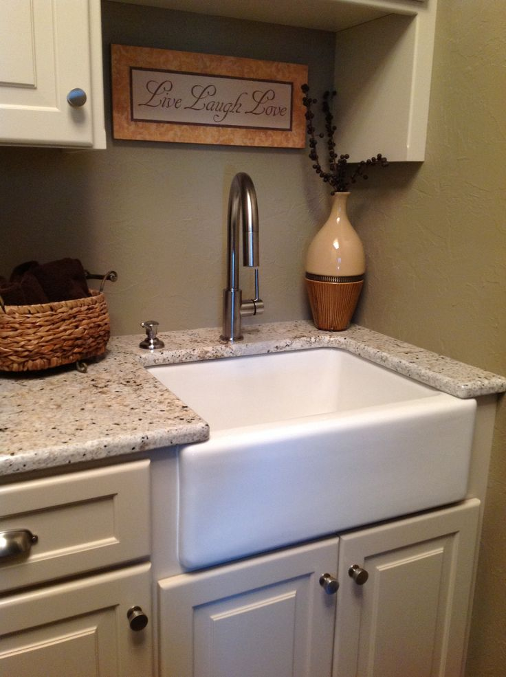 Apron Laundry Sink : Front apron laundry sink Theres No Place Like Home Pinterest