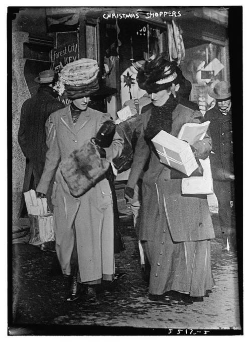 Christmas shopping 1890 turn of a century pinterest