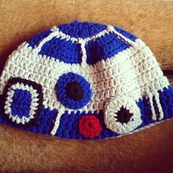 Free Crochet Hat Patterns Star Wars : Ravelry Star Wars Droid Beanies Pattern By Jen Spears ...