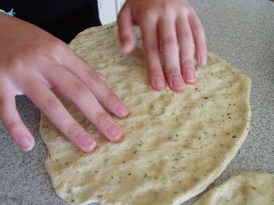 rosemary thin and crispy flatbread pizza! good dough recipe, though ...