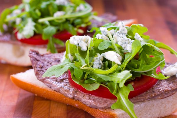 Haute Stoner Cuisine and Steak Sandwich with Arugula and Gorgonzola ...
