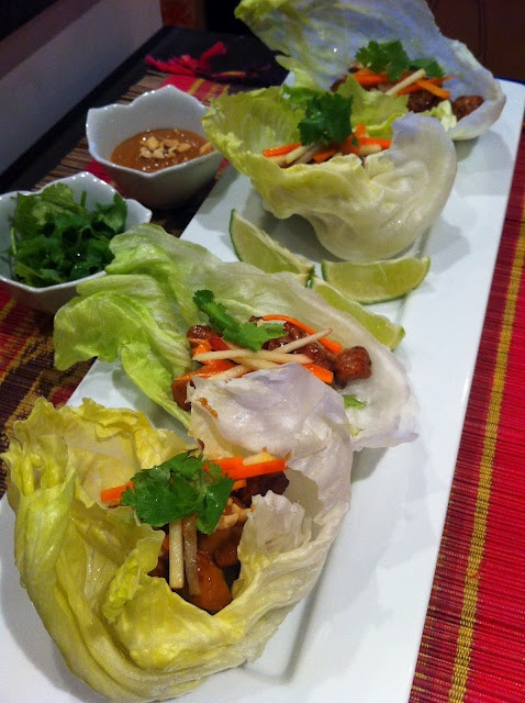 ... served in lettuce cups recipe thai style spicy chicken in lettuce cups