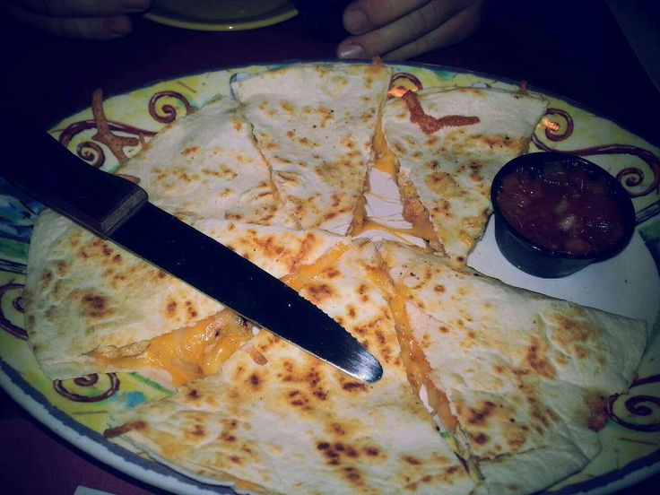 Quesadillas--Grilled tortilla with our black beans, roasted corn ...