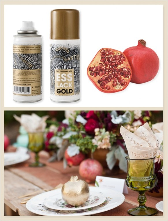 edible spray paint gold