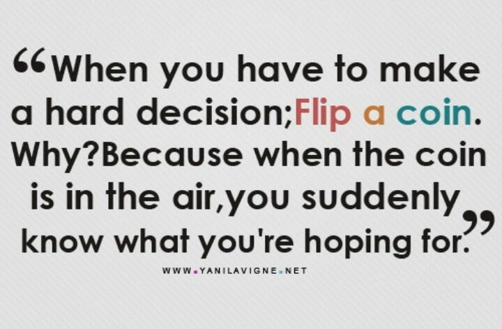 Give me a short description of a difficult decision you had to make?