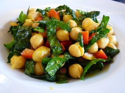Foods For Long Life: Garbanzo Bean And Raw Kale Salad With Lemon-Turmeric Dressing