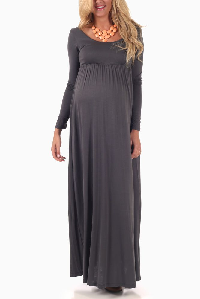 long maternity maxi dress