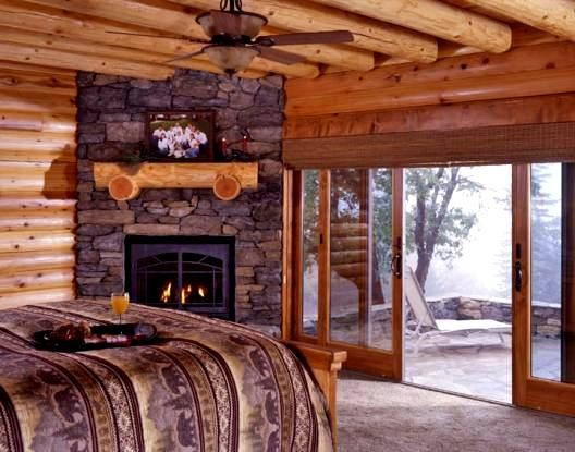 Log Home Master Bedroom Future Home
