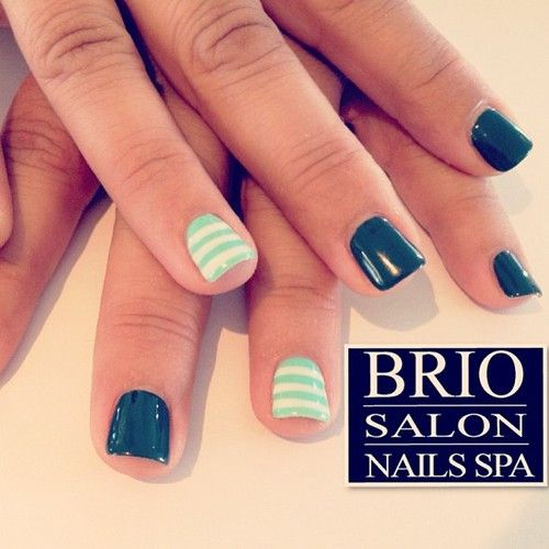 Shellac Gel Mani, Asphalt color w/ Moon River from Perfect Match (at