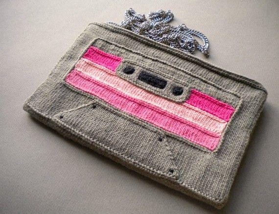 knitted brown cassette bag on etsy